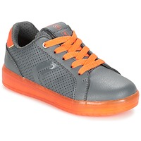 Sko Dreng Lave sneakers Geox J KOMMODOR B.B Grå / Orange