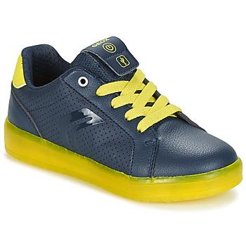 Sko Dreng Lave sneakers Geox J KOMMODOR B.B Marineblå / Gul