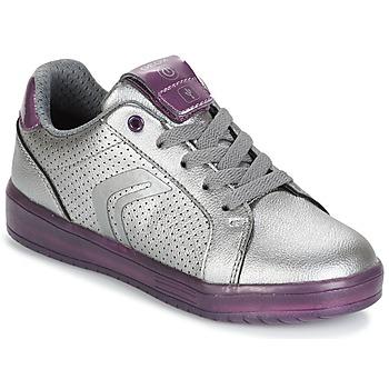 Sko Pige Lave sneakers Geox J KOMMODOR G.A Sølv / Sveske