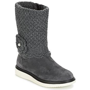 Sko Pige Chikke støvler Geox J THYMAR G. F Grå