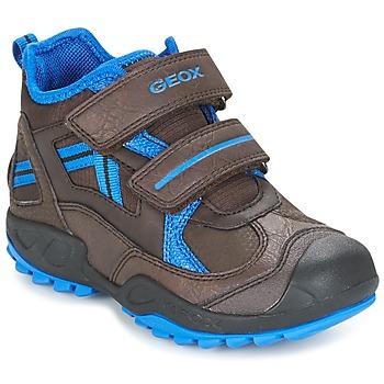 Sko Dreng Lave sneakers Geox J N.SAVAGE B.B Brun / Blå