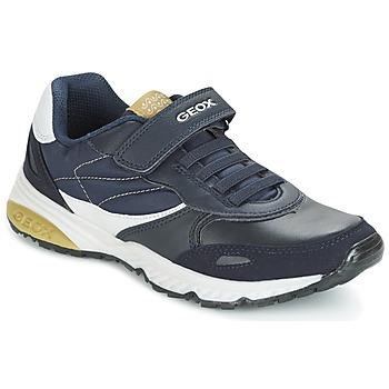 Sko Dreng Lave sneakers Geox J BERNIE A Marineblå / Grøn