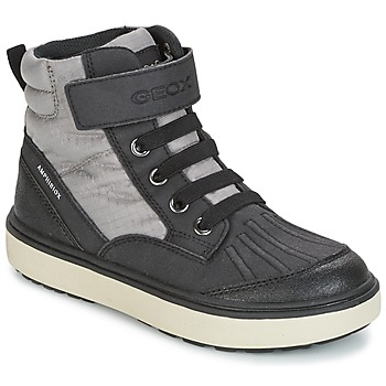 Sko Dreng Høje sneakers Geox J MATT.B ABX B Grå / Sort