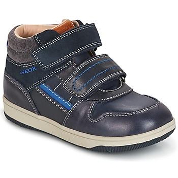 Sko Dreng Høje sneakers Geox B NEW FLICK B. A Marineblå / Blå