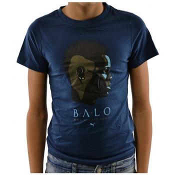 textil Børn T-shirts m. korte ærmer Puma  Blå