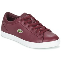 Sko Dame Lave sneakers Lacoste STRAIGHTSET LACE BORDEAUX