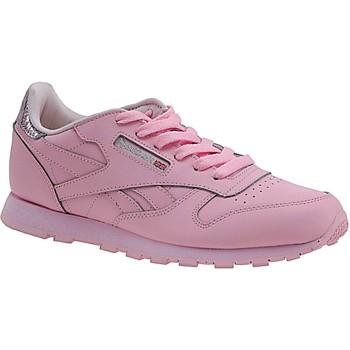 Sko Børn Sneakers Reebok Sport Classic Leather Metallic BD5898 Pink