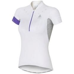 textil Dame T-shirts m. korte ærmer Odlo Stand-Up Collar Short Sleeve 1/2 Zip Isola 410911-10000 White