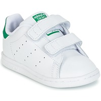 Sko Dreng Lave sneakers adidas Originals STAN SMITH CF I Hvid / Grøn