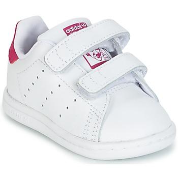 Sko Pige Lave sneakers adidas Originals STAN SMITH CF I Hvid / Pink