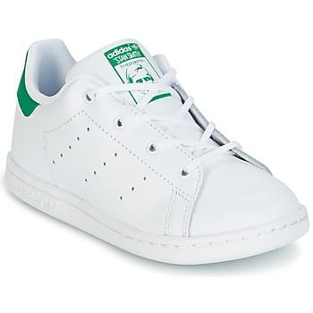 Sko Børn Lave sneakers adidas Originals STAN SMITH I Hvid / Grøn