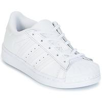 Sko Pige Lave sneakers adidas Originals SUPERSTAR Hvid
