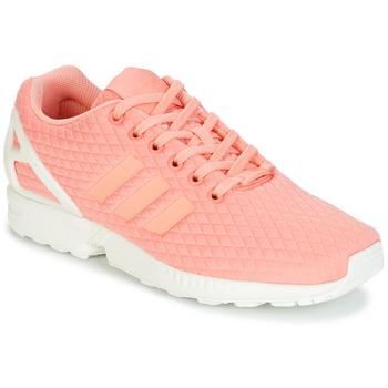 Sko Dame Lave sneakers adidas Originals ZX FLUX W Pink / Hvid