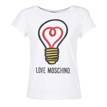 textil Dame T-shirts m. korte ærmer Love Moschino W4F3038E1512 Hvid