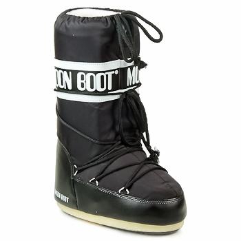 Sko Dame Vinterstøvler Moon Boot MOON BOOT NYLON Sort