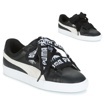 Sko Dame Lave sneakers Puma Basket Heart DE Sort / Hvid