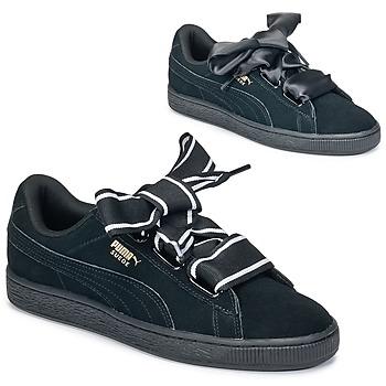 Sko Dame Lave sneakers Puma Basket Heart Satin Sort