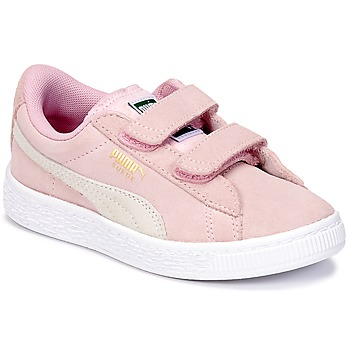 Sko Pige Lave sneakers Puma SUEDE 2 STRAPS PS Pink