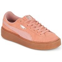 Sko Dame Lave sneakers Puma Suede Platform Core Gum Pink