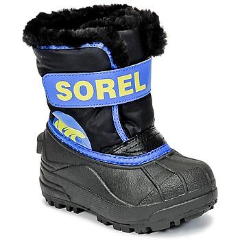 Sko Børn Vinterstøvler Sorel CHILDRENS SNOW COMMANDER Sort / Blå