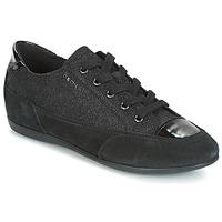 Sko Dame Lave sneakers Geox D NEW MOENA Sort