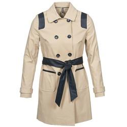 textil Dame Trenchcoats Naf Naf BARTABA Beige / Sort