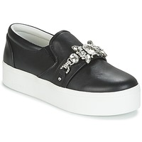 Sko Dame Slip-on Marc Jacobs WRIGHT EMBELLISHED SNEAKER Sort