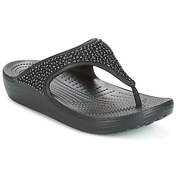 Sko Dame Sandaler Crocs SLOANE Sort