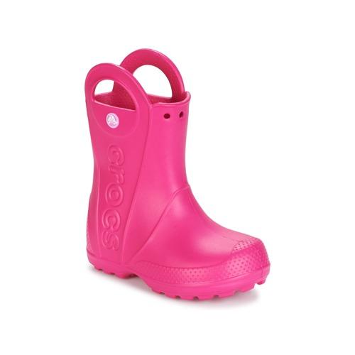 Sko Pige Gummistøvler Crocs HANDLE IT RAIN BOOT Pink