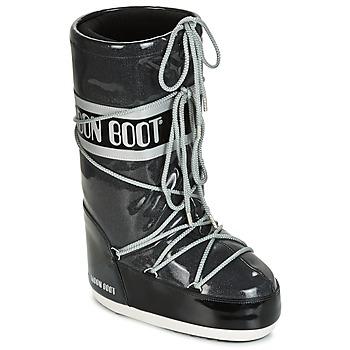 Sko Dame Vinterstøvler Moon Boot MOON BOOT STARRY Sort / Hvid