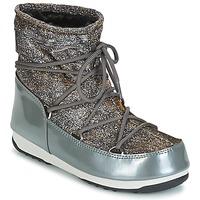 Sko Dame Vinterstøvler Moon Boot MOON BOOT LOW LUREX Grå / Sølv