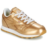 Sko Pige Lave sneakers Reebok Classic CLASSIC LEATHER MET Guld