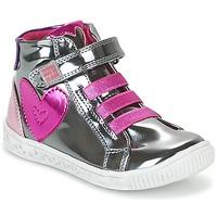 Sko Pige Høje sneakers Agatha Ruiz de la Prada FLOW Sølv