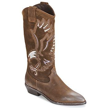 Sko Dame Chikke støvler Now SATURNA Brun