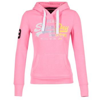 textil Dame Sweatshirts Superdry VINTAGE LOGO STRIPE FADED Pink