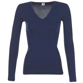 textil Dame Langærmede T-shirts Petit Bateau LEOSA Marineblå
