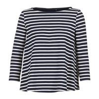 textil Dame Toppe / Bluser Petit Bateau LAURENI Hvid / Marineblå
