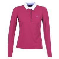 textil Dame Polo-t-shirts m. lange ærmer Gant SOLID JERSEY LS RUGGER Pink
