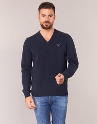 textil Herre Pullovere Gant SUPER FINE LAMBSWOOL V-NECK Marineblå