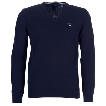 textil Herre Veste / Cardigans Gant SUPER FINE LAMBSWOOL V-NECK Marineblå