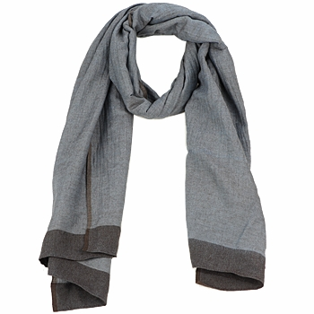 Accessories Dame Halstørklæder Antik Batik ZOE Blå / Brun