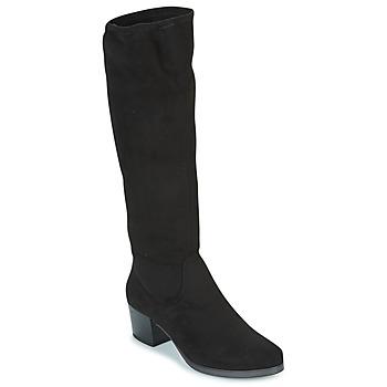 Sko Dame Chikke støvler Caprice BELLA Sort