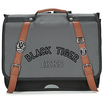 Tasker Dreng Skoletasker Ikks BLACK TIGER CARTABLE 38CM Sort / Grå / Brun