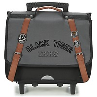 Tasker Dreng Rygsække / skoletasker med hjul Ikks BLACK TIGER CARTABLE TROLLEY 38CM Grå / Sort