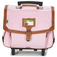 Tasker Pige Rygsække / skoletasker med hjul Tann's LES INCONTOURNABLES TROLLEY CARTABLE 38CM Pink / Mild