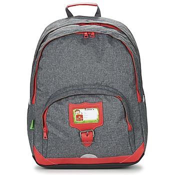 Tasker Børn Rygsække Tann's CLASSIC SAC A DOS L Grå / Rød