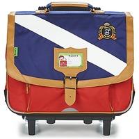 Tasker Dreng Rygsække / skoletasker med hjul Tann's LES BONS ENFANTS POLO TROLLEY CARTABLE 38CM Blå / Rød
