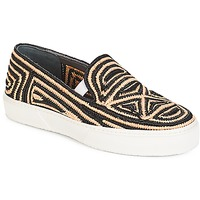 Sko Dame Slip-on Robert Clergerie  Sort / Beige