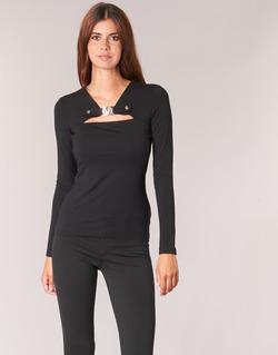 textil Dame Toppe / Bluser Versace Jeans B2HQA732 Sort