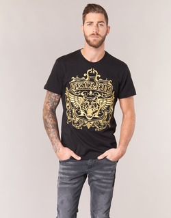 textil Herre T-shirts m. korte ærmer Versace Jeans B3GQB7T2 Sort / Gylden